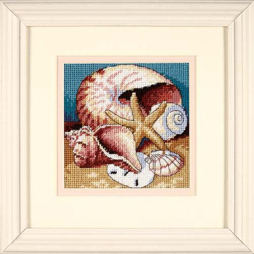 Shell Collage, Needlepoint_07219