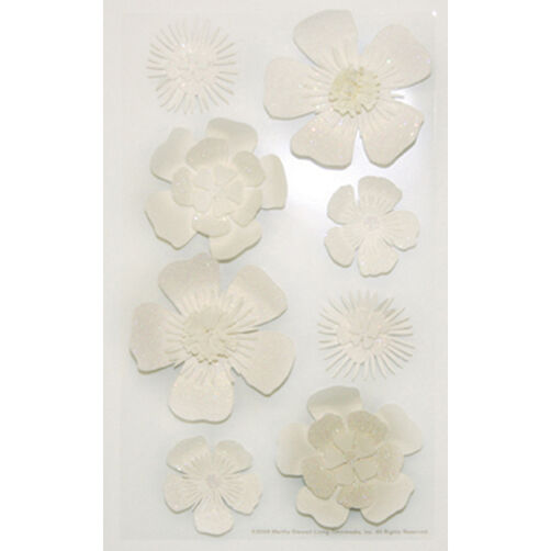 White Flower Stickers_M860485