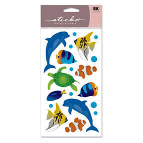 Sea Animals Metallic Classic Stickers_SPSG114