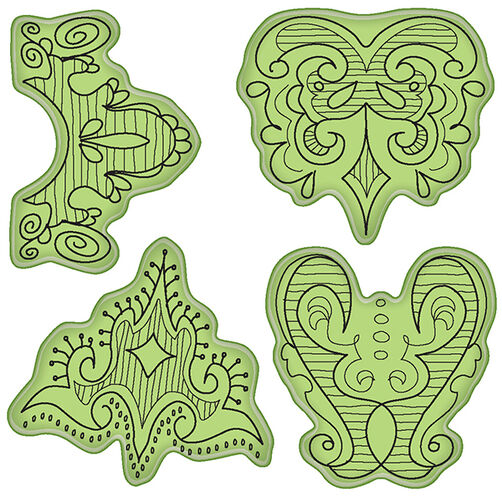 Doodle Borders Cling Stamps_65-32064