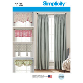 Simplicity Pattern 1125 Window Treatments