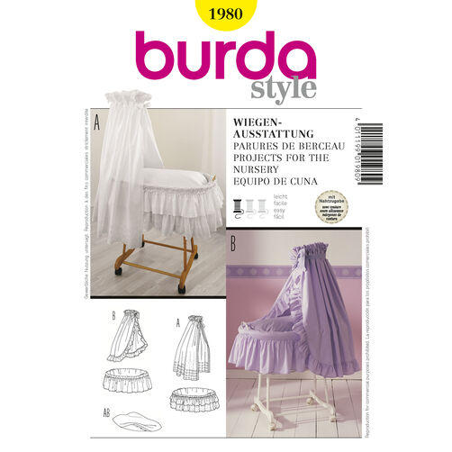 Burda Style Pattern 1980 Projects for the Nursery