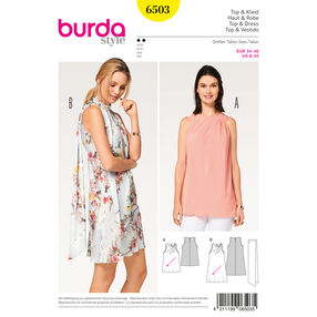 Burda Style Pattern B6503 Misses' Dress, Top and Scarf