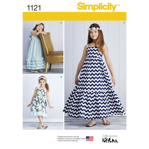 Simplicity Pattern 1121 Child's and Girls' Pullover Dresses