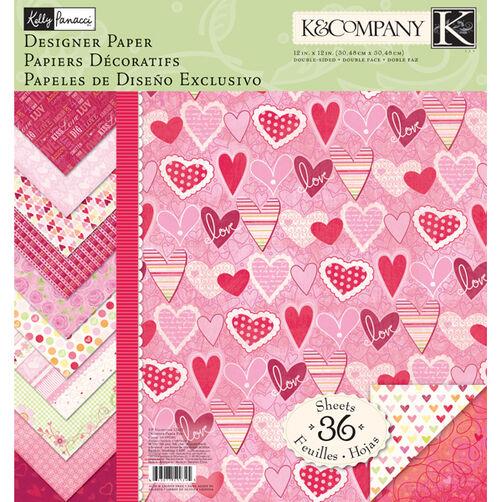 Kelly Panacci Valentine 12x12 Designer Paper Pad_30-599345