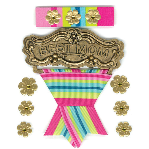Mom Medal  Parcel Dimensional Stickers_50-20149