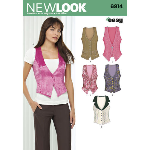 New Look Pattern 6914 Misses' Vests