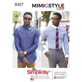 Pattern 8427 Men's Fitted Shirt with Collar and Cuff Variations by Mimi G