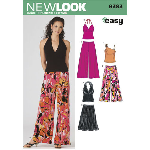 New Look Pattern 6383 Misses' Easy Separates