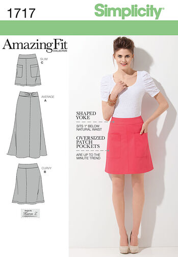 Misses' Amazing Fit Skirt