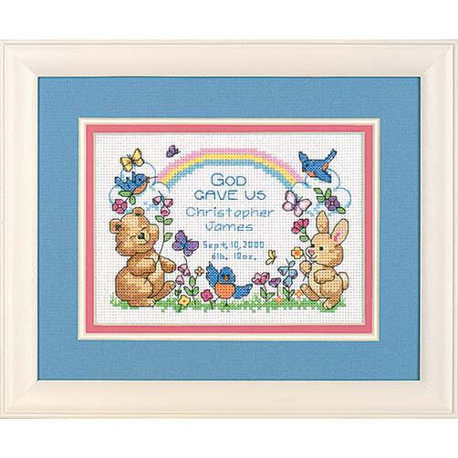 God's Babies Birth Record, Counted Cross Stitch_06802