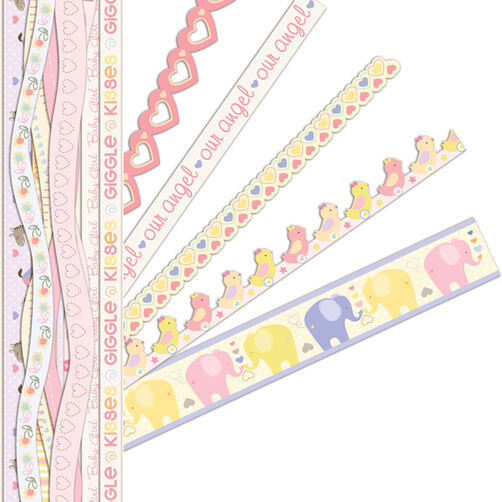 Itsy Bitsy Baby Girl Adhesive Borders_30-595262