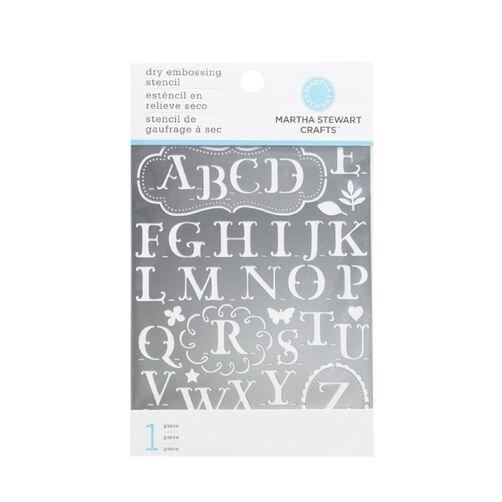 Alphabet Embossing Stencils _42-03006
