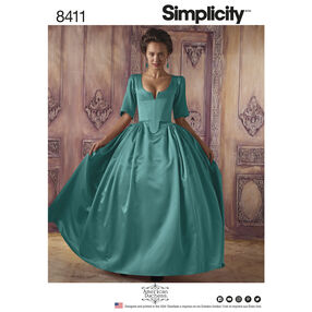 Simplicity Pattern 8411 Misses' 18th Century Costume