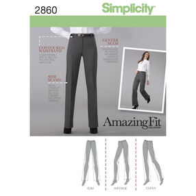 Simplicity Pattern 2860 Misses' & Miss Petite Pants