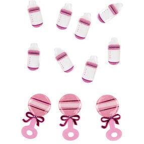 Baby Girl Bottle and Rattle Embellishments_50-00443