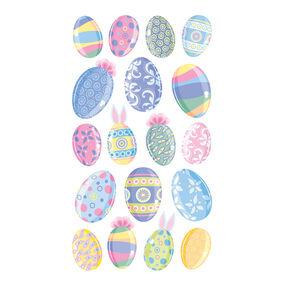 Multicolor Easter Eggs -Vellum and Glitter _52-00364