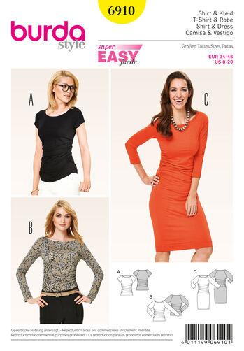 Burda Style Pattern 6910 Dresses