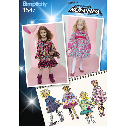 Simplicity Pattern 1547 Toddlers' and Child's Project Runway Dresses
