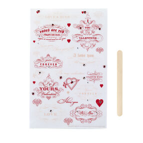 Heart And Love Phrase Transfers_41-12002