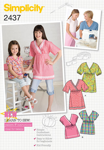Simplicity Pattern 2437 Child's & Girl's Sportswear