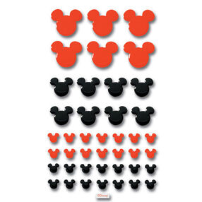 Mickey Red and Black Adhesive Tiles_DEPM001