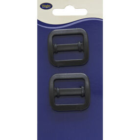 "Bar Slide Buckle 1"", 2 pieces"
