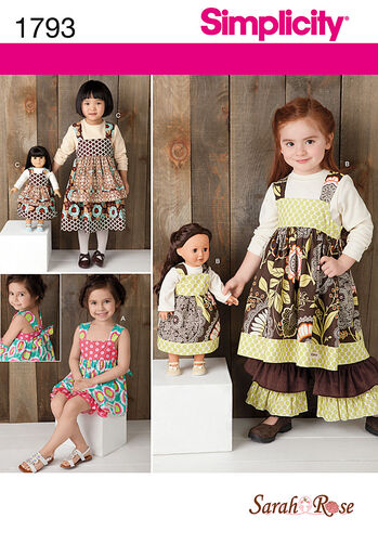 "Child's Dress Set & 18"" Doll Dress"