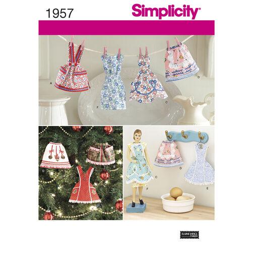 Simplicity Pattern 1957 Apron Ornaments