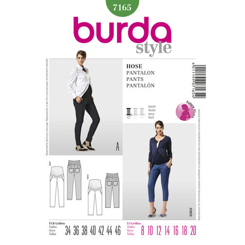 Burda Style Pattern 7165 Pants