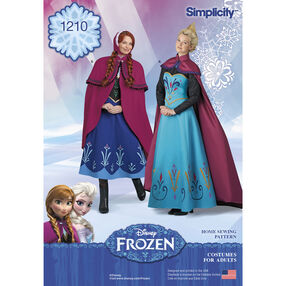 Simplicity Pattern 1210 Disney Frozen Costumes for Misses