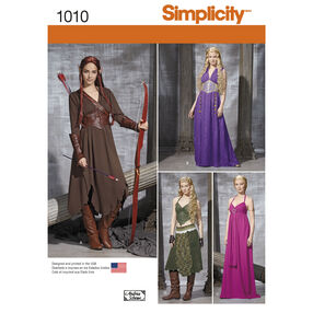 Simplicity Pattern 1010 Misses' Fantasy Costumes