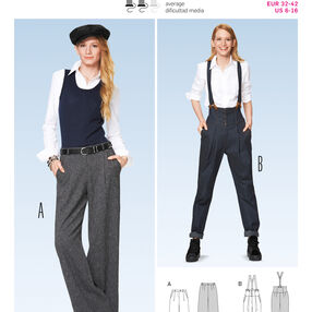 Burda Style Pattern 6856 Pants, Jumpsuit