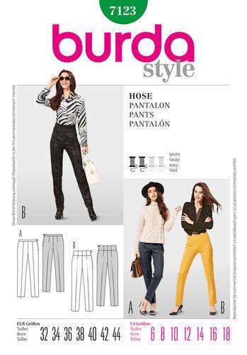 Burda Style Pattern 7123 Pants