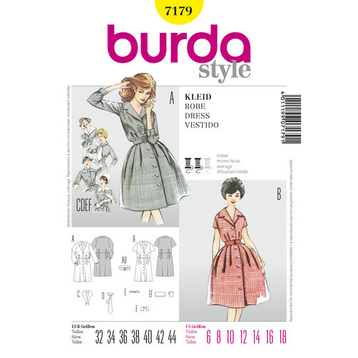 Burda Style Pattern 7179 Dress