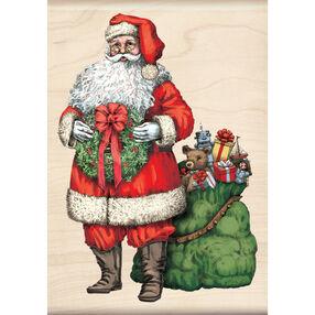 Santa Wood Stamp_60-00953
