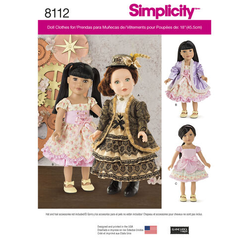 Simplicity Pattern 8112 18 inch Doll Clothes