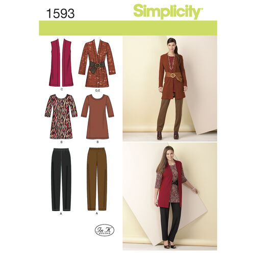 Simplicity Pattern 1593 Misses' and Plus Size Knit Separates