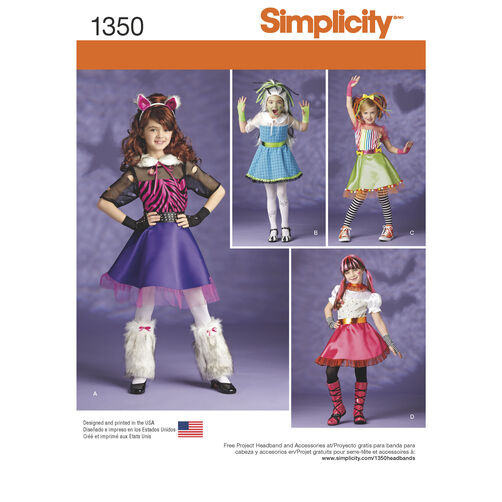 Simplicity Pattern 1350 Child's and Girls'