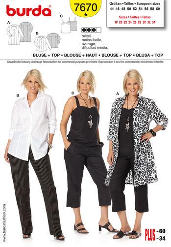 Burda Style Pattern 7670 Blouse & Top