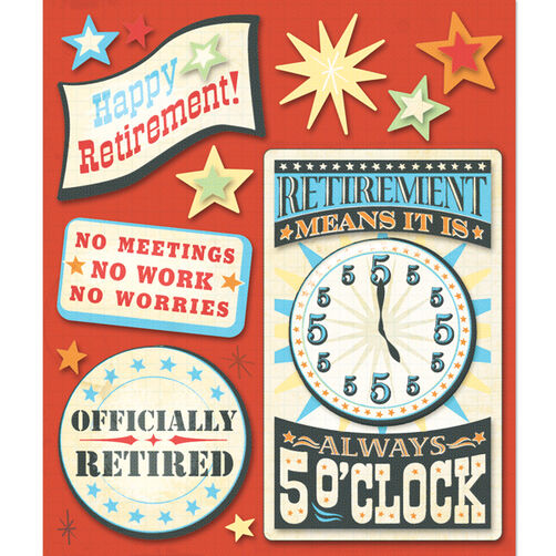 Retirement Sticker Medley_30-588158