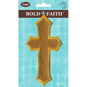Satin Cross Iron-On Applique