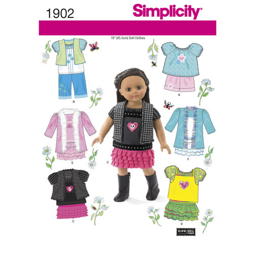 Simplicity Pattern 1902 Doll Clothes