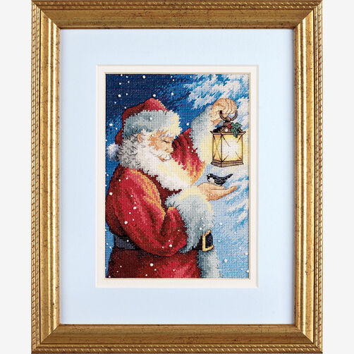 Santa's Feathered Friend, Counted Cross Stitch_70-08831