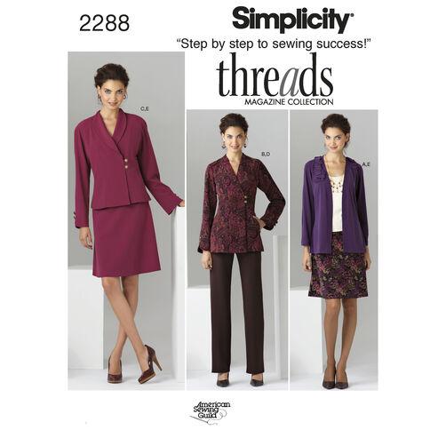 Simplicity Pattern 2288 Misses' & Plus Size Sportswear