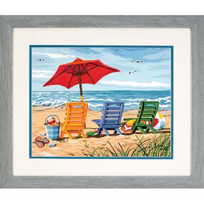 Beach Chair Trio, Paint by Number_91316