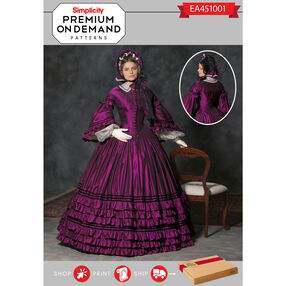 Simplicity Pattern EA451001 Premium Print on Demand Costume Pattern