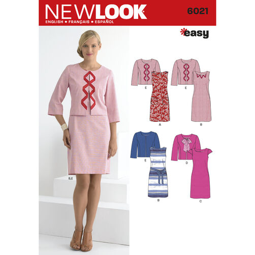 New Look Pattern 6021 Misses' Dresses & Jacket