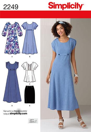 Simplicity Pattern 2249 Misses' & Plus Size Dresses