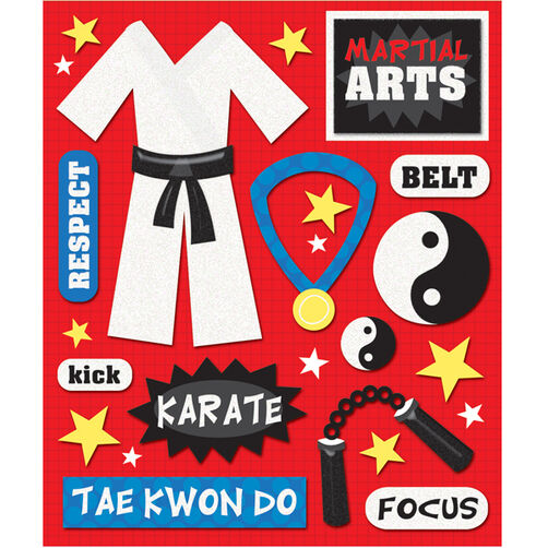 Martial Arts Sticker Medley_30-585911